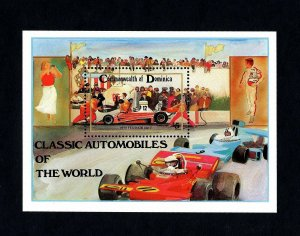 DOMINICA - 1983 - CLASSIC CARS - 1975 FERRARI 312T - RACING - MINT MNH S/SHEET!