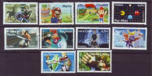 J20485 Jlstamps 2005 france set mnh #3155a-j video games
