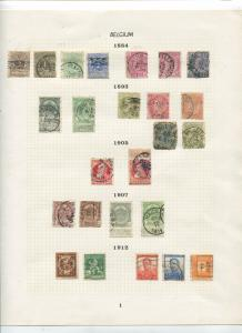 STAMP STATION PERTH Belgium # Various Selection of 90 Stamps1884-1936 Mint /Used