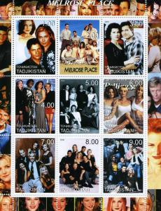 Tajikistan 2000 MELROSE PLACE American TV Sheet Perforated Mint (NH)