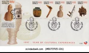 SOUTH AFRICA - 1997 YEAR OF CULTURAL EXPERIENCES - 5V - FDC