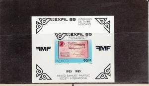 MEXICO 1385 SOUVENIR SHEET MNH 2014 SCOTT CATALOGUE VALUE $3.50