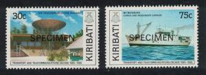 Kiribati Transport and Telecommunications Decade 4th issue 2v Specimen