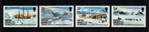 British Antarctica  121 - 124 MNH  $4.20