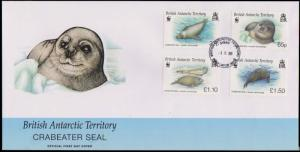 British Antarctic Territory Scott 410-413 Unaddressed.