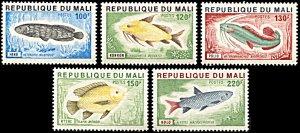Mali 256-260, MNH, Fishes