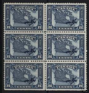 Canada #145 VF Mint Block Of 6