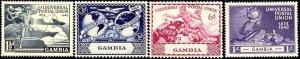 UPU, Universal Postal Union, 75th Anniv., Gambia SC#148-151 MNH set