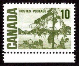 462iii, Scott,10c, HB, spotty white gum, Jack Pine, MNHOG, Canada Postage...