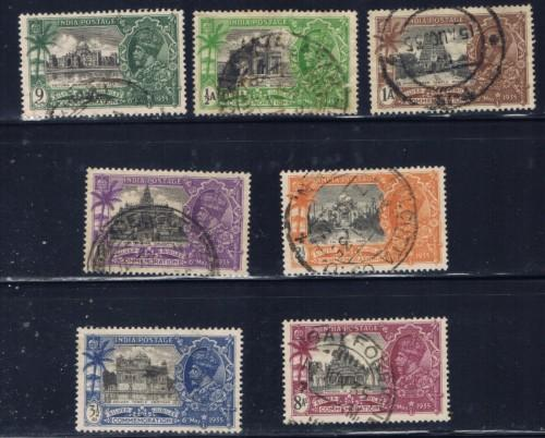 India 142-48 Used 1935 King George V Silver Jubilee