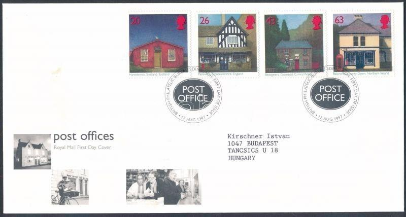 Great Britain stamp British postmaster association set FDC Cover 1997 WS156848