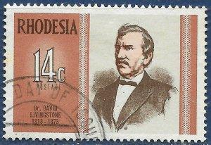 Rhodesia sg 480 used 1973 14c Dr David Livingstone