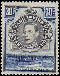 1938 Kenya, Uganda, Tanzania #76, Incomplete Set, Never Hinged