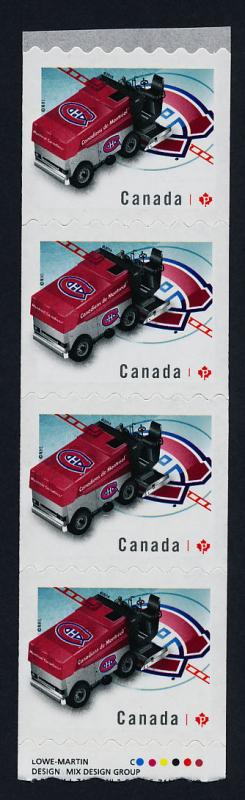 Canada 2782i Starter Coil Strip MNH Montreal Canadiens Zamboni, Ice Hockey