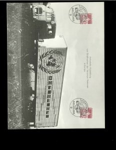 Germany-Berlin #9N236 x 2 Cancelled 09-21-66 on Photo Card