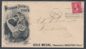 US Sc 267 on 1899 Gold Medal Flour Advertising Cover