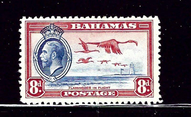 Bahamas 96 MLH 1935 Flamingos  tiny spot on back