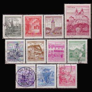 AUSTRIA 1962 - Scott# 688-702 Issed 1962 Mixed Set of 11 NH