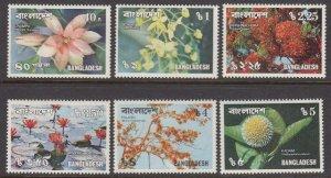 Bangladesh 139-44 Flowers mnh