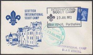 GB SCOTLAND 1972 cover Internation Scout Camp Blair Athol cancel............Q870