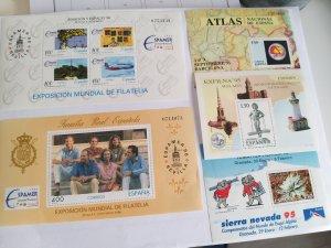 Spain 5 minisheets 1995+1996 CV € 20