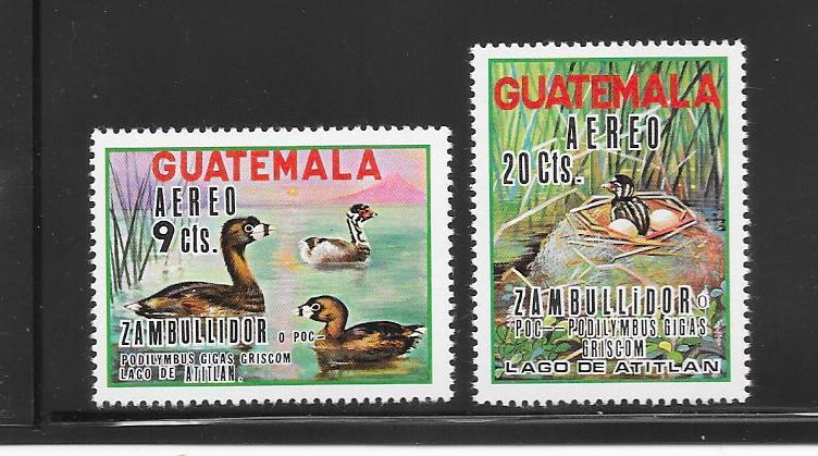 BIRDS - GUATEMALA #C448-9-DUCKS   MNH