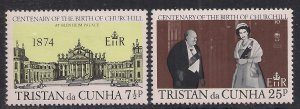 Tristan Da Cunha 1974 QE2 Set Centenary Winston Churchill Umm SG 193 - 4 ( F1...