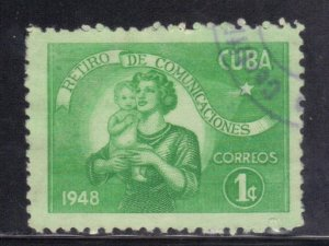 CUBA SC# 415  **USED** 1948   1c   SEE SCAN