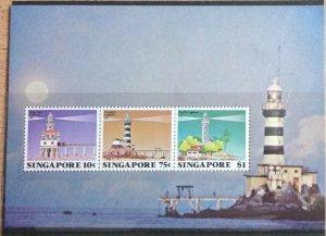 SINGAPORE 1982 LIGHTHOUSES MINISHEET SG.MS430  UNMOUNTED  MINT.