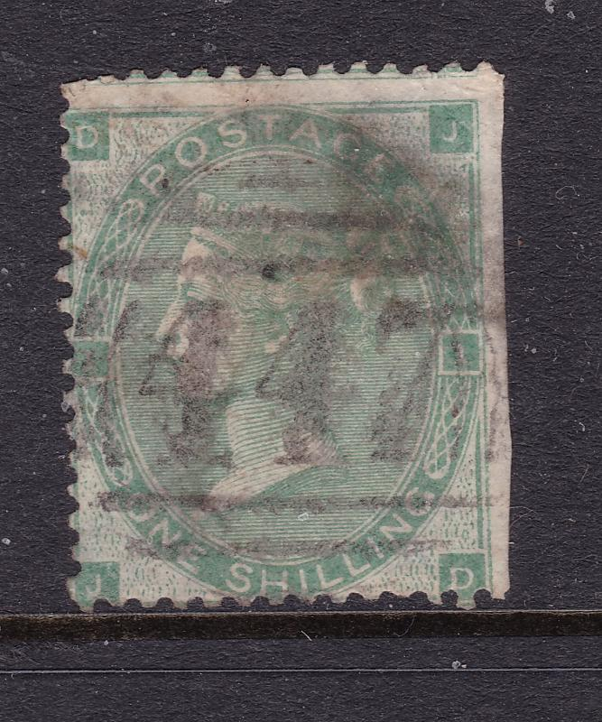 Great Britain a QV 1/- green