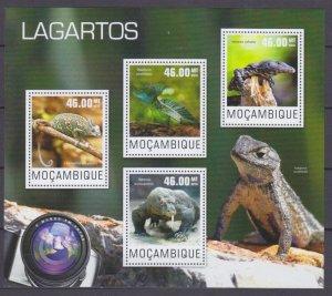 2014 Mozambique 7585-7588KL Reptiles / Lizards 10,00 €