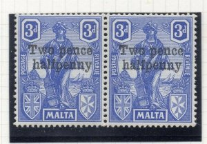 Malta 1925 Early Issue Fine Mint Hinged 2.5d. Surcharged 321589