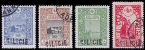 Cilicia Scott 10, 12-13, 15 (1919) Used/Mint H F-VF, CV $28.50