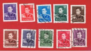 Iran #1107//1123  VF used  Shah Pahlavi  Free S/H