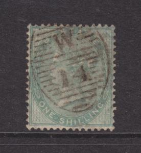 Great Britain Sc 28 used. 1856 1sh green Queen Victoria