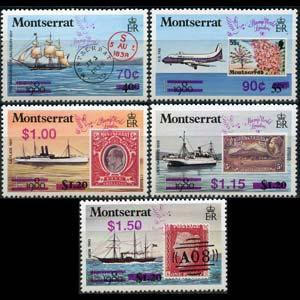MONTSERRAT 1990 - Scott# 736-40 Stamps Surch. Set of 5 NH