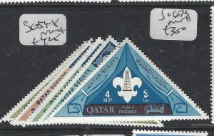 QATAR  (PP2306B)  SCOUTS, TRIANGLE STAMPS  SG 54-8   MNH