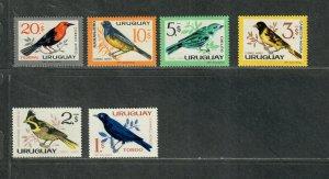 Uruguay Sc#c258-c263 M/NH/VF, Birds, Cv. $31