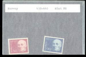 NORWAY Sc#439-440 MINT NEVER HINGED Complete Set