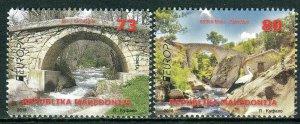 278 - MACEDONIA 2018 - Europa - Bridges - MNH Set