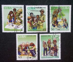 CUBA Sc# 4203-4207 EXPLORERS Youth Organization Cpl set of 5 2002 cancelled/used