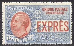 ITALY #E8 var SCARCE Mint NH - 1926 1.20 l Unissued Special Delivery