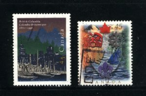 Canada #1613-14   -2    used VF 1996  PD