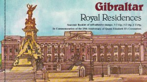 Gibraltar # 368a, Queen Elizabeth Coronation 25th Anniversary, Complete Booklet
