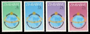 Zimbabwe MNH 429-32 75th Anniversary Rotary International 1980