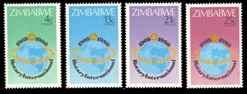 Zimbabwe MNH 429-32 75th Anniversary Rotary International 1980