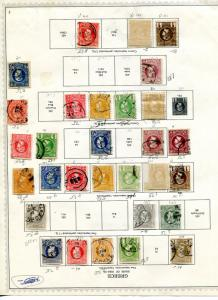 Greece collection 1886/95 on album page