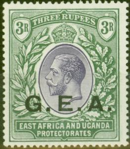 Tanganyika G.E.A 1917 3R Violet & Green SG57 V.F Very Lightly Mtd Mint