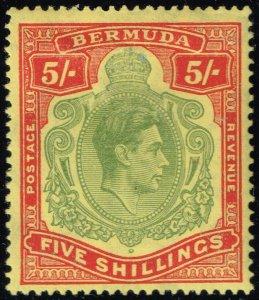 Bermuda #125a King George VI; Unused (3Stars)