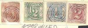 THURN & TAXIS 8-11 CANCELS COLLECTION LOT $298 SCV